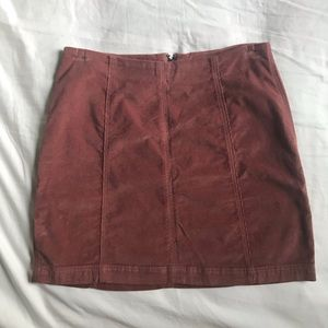 Free People Blush Pink Corduroy Mini Skirt